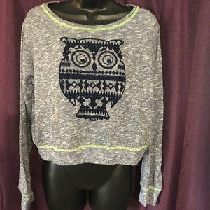 Owl crop sweater